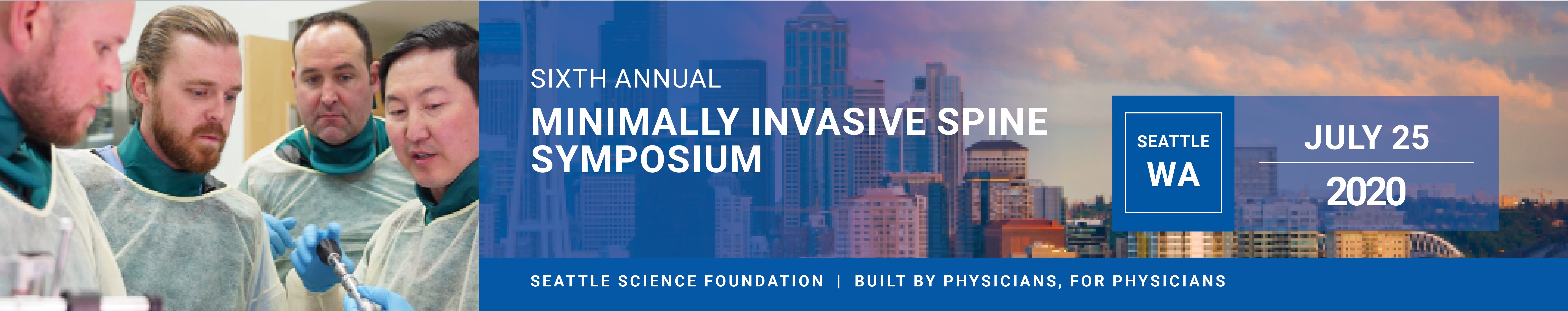 6th Annual Minimally Invasive Spine Symposium - Virtual! Banner