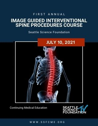 1st Annual Image Guided Interventional  Spine Procedures Course Banner