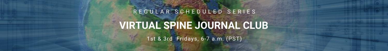 Virtual Spine Journal Club 2021 Banner